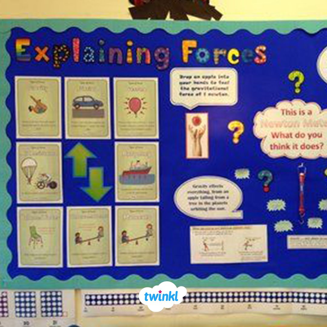 Explaining Forces Science Classroom Display Board