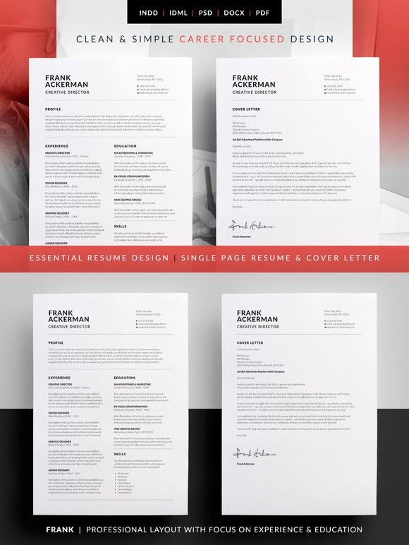 Essential Resume - Frank Template