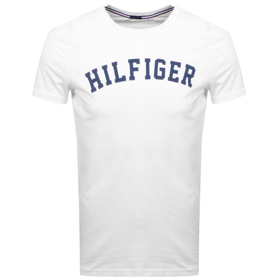 Tommy Hilfiger Logo T Shirt White Tommyhilfiger Cloth Hilfiger Tommy Hilfiger Shirts White