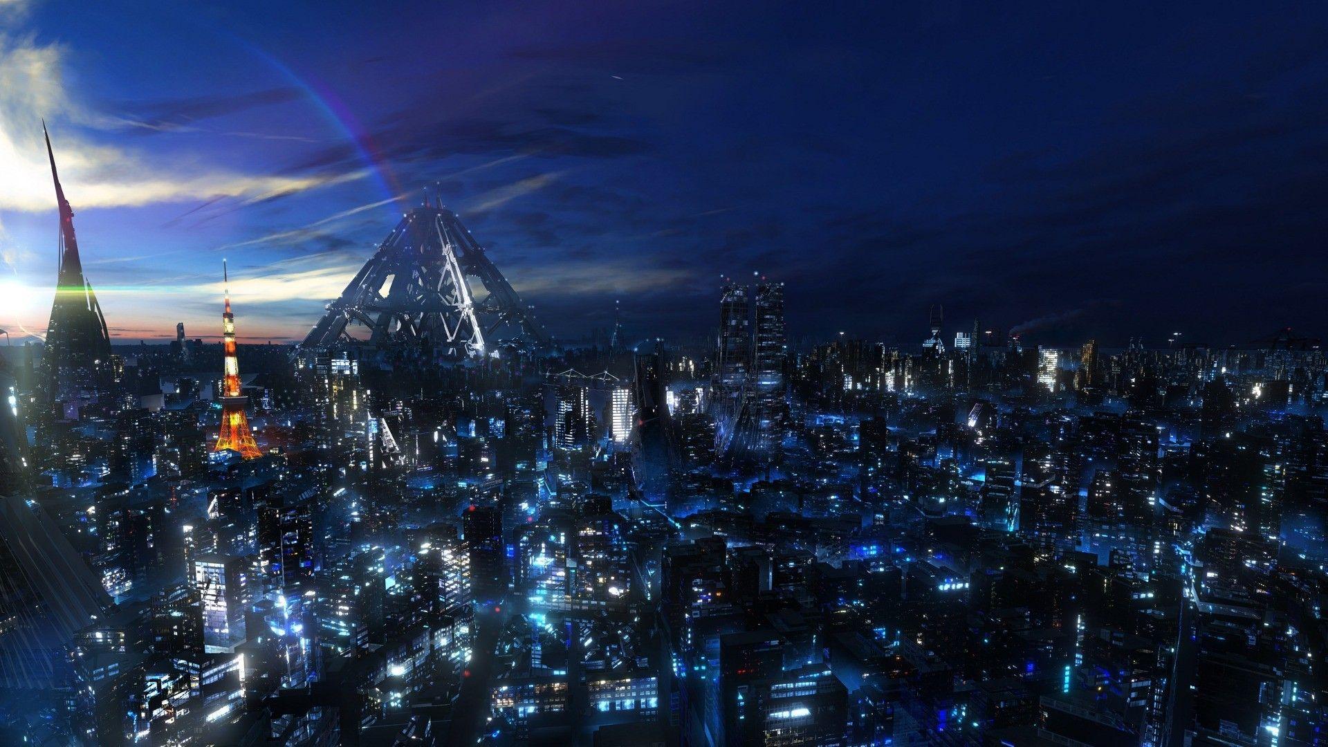 Pin By Timoteo Velosa On Fantastic Cities Anime City Futuristic City Anime Scenery