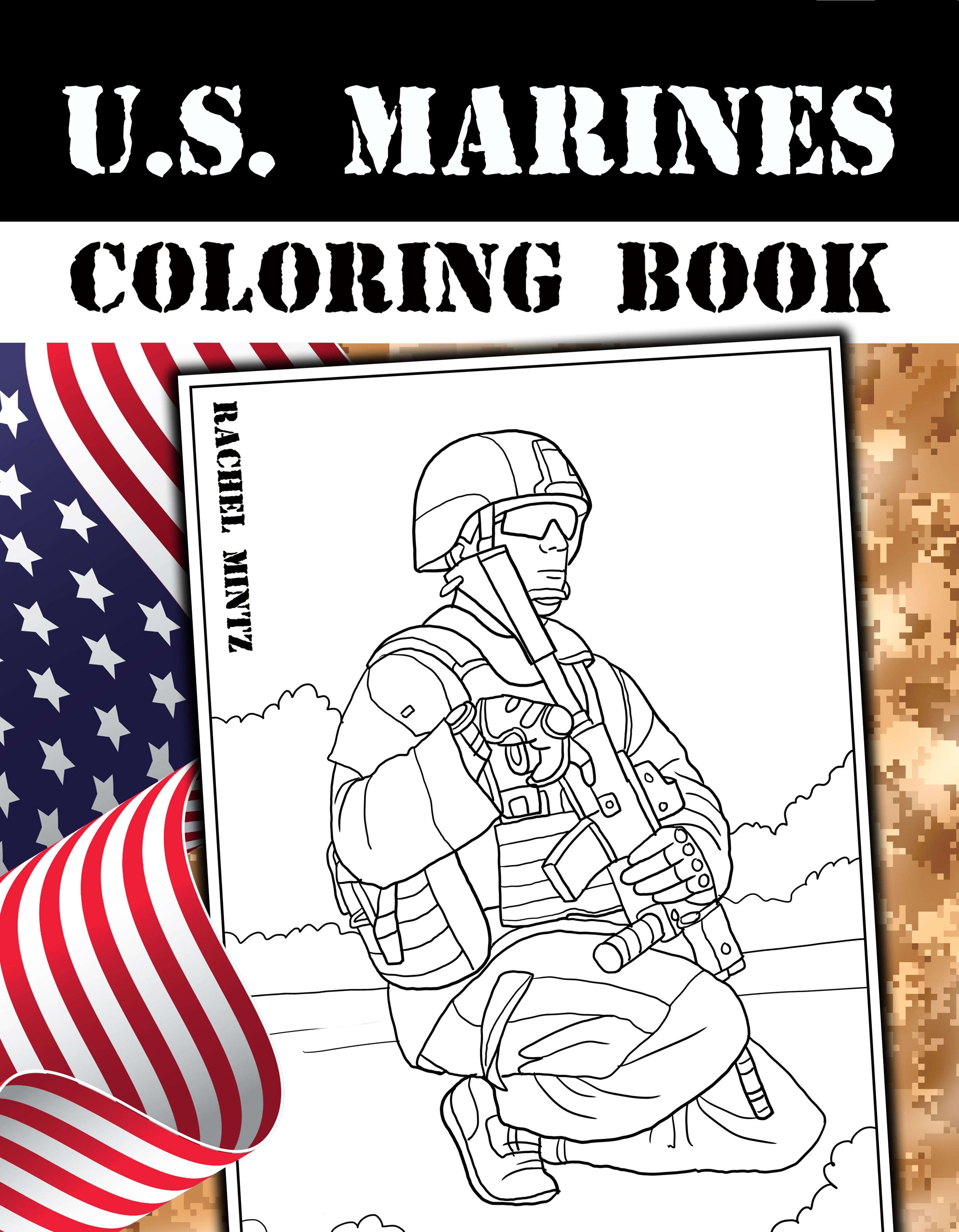 New coloring book with brave Marines in combat action scenes ...