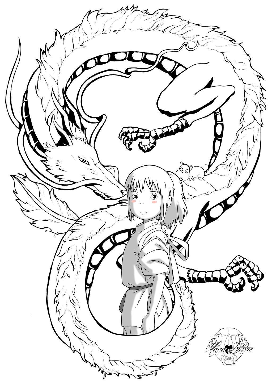 Chihiro Maria Latorre By Marialatorreart On Deviantart Ghibli Art Ghibli Tattoo Studio Ghibli Tattoo