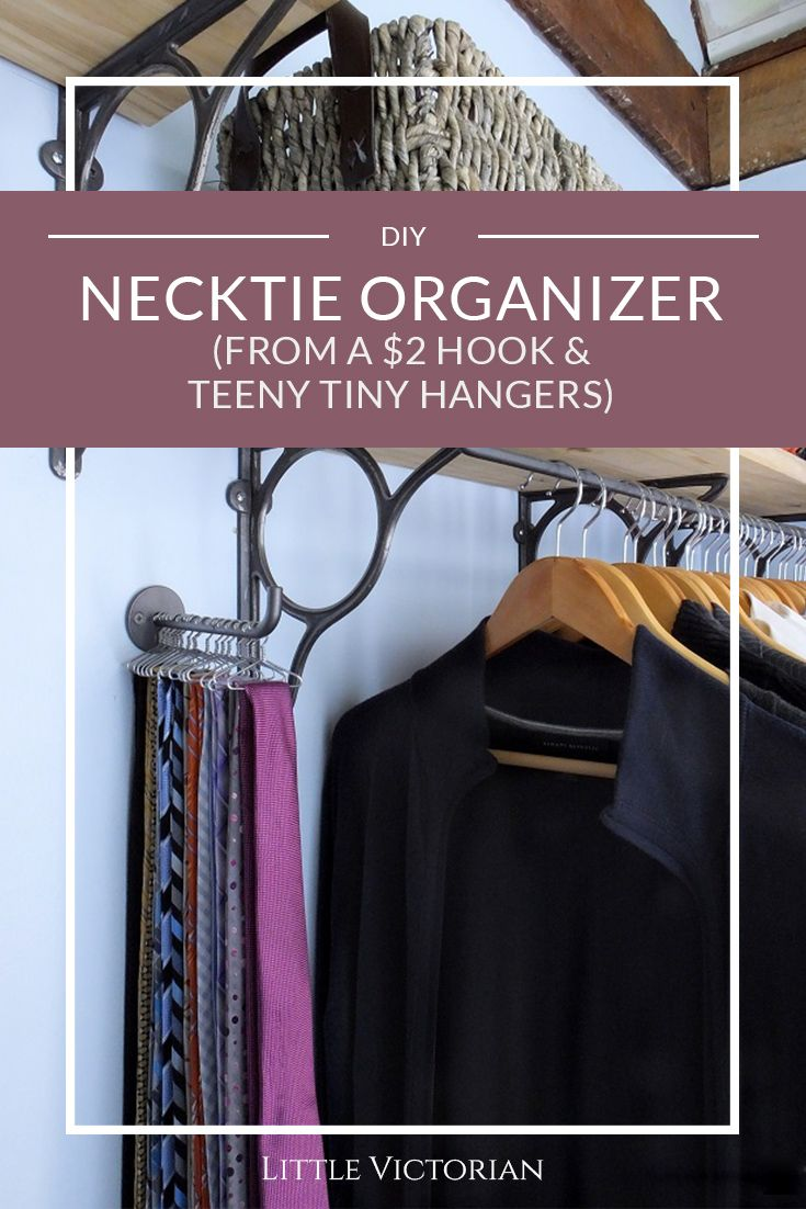 Inexpensive and easy DIY tie storage would be great as a necklace organizer too. : diy tie storage  - Aquiesqueretaro.Com