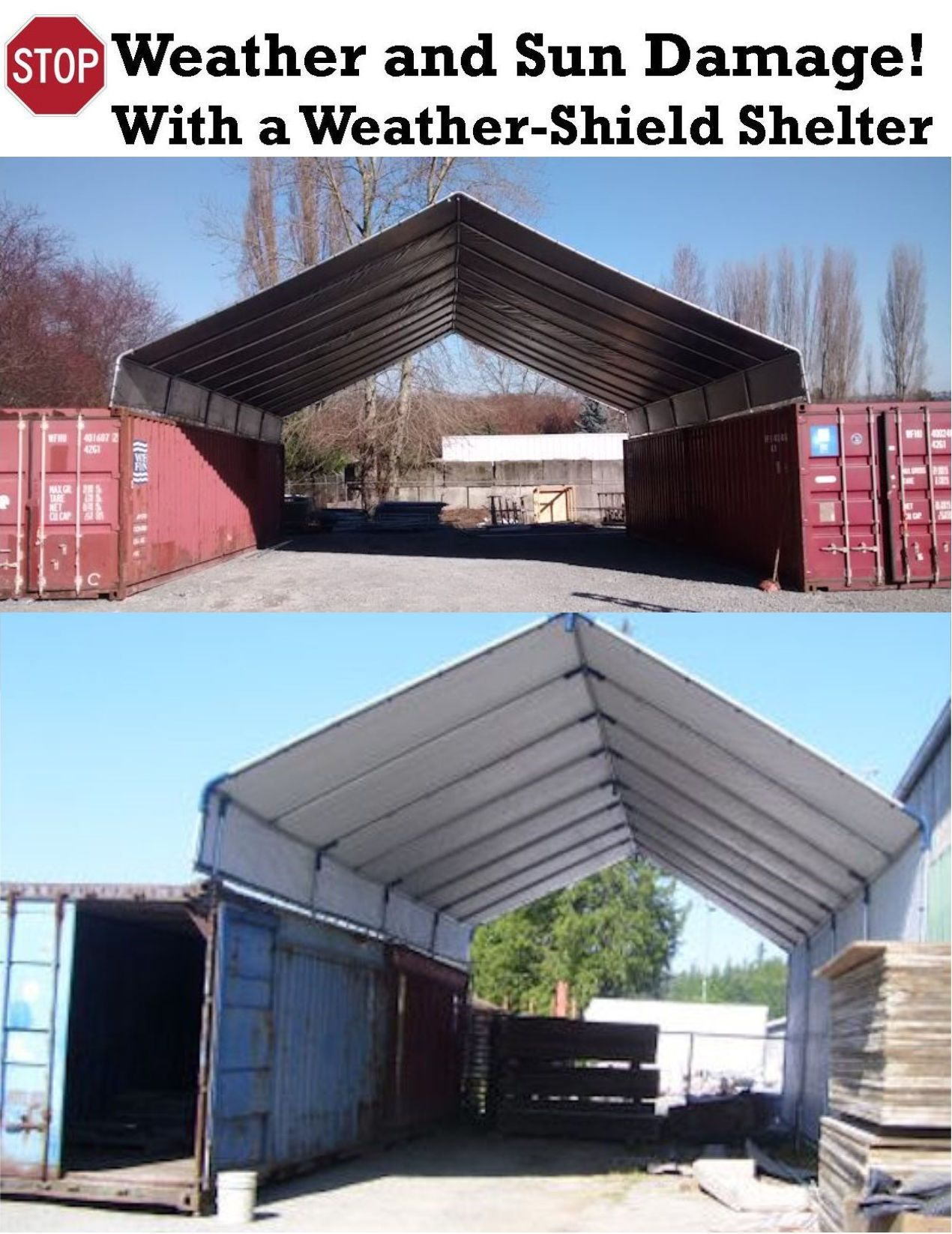 Commercial Canopies And Shelters : Hiscoshelters commercial industrial portable shelter