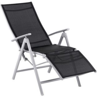 Malibu Recliner Chair Black At Argos Co Uk Your Online For Garden Chairs And Sun Loungers