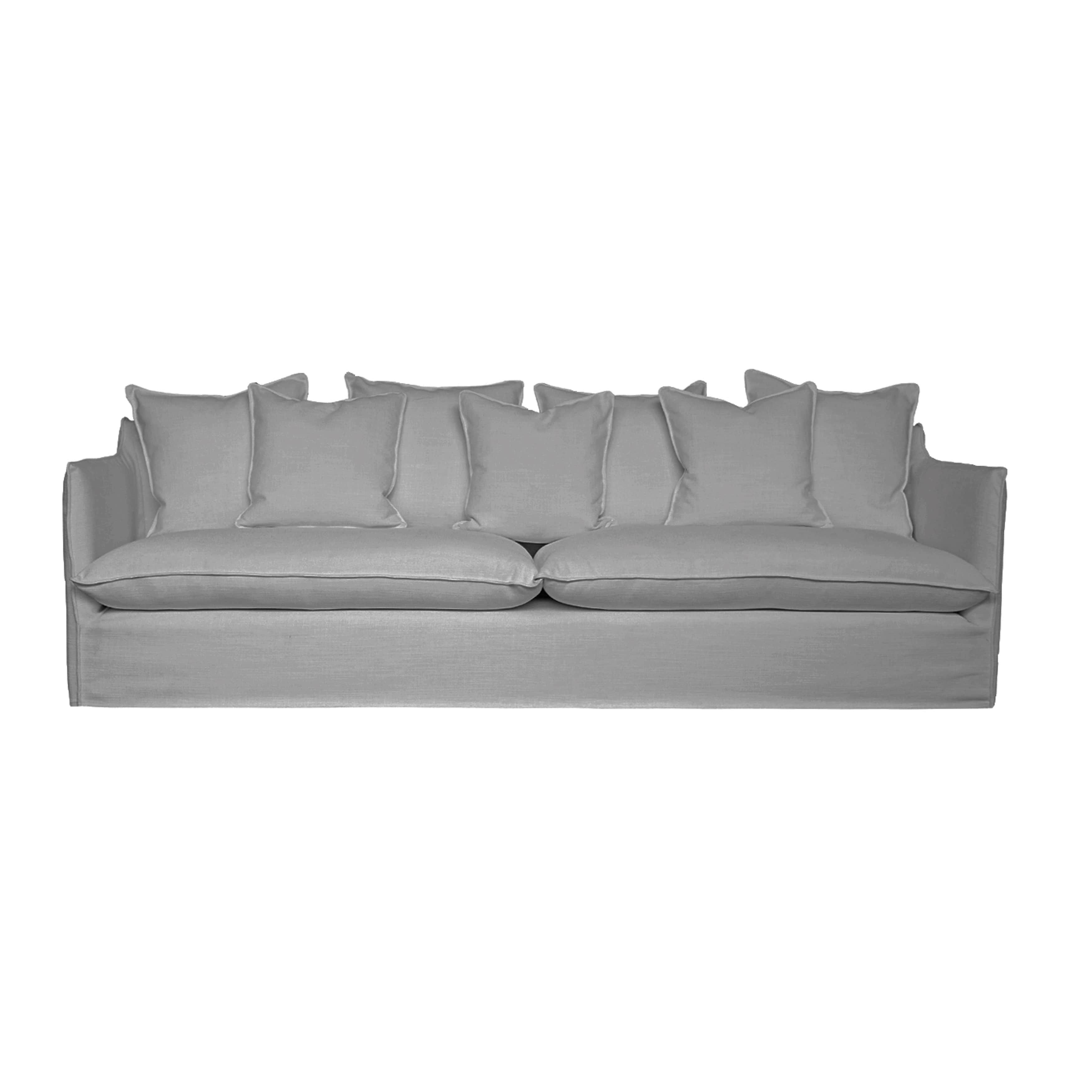 Feather And Down Slipcover Sofa Brown Polyester Sofa