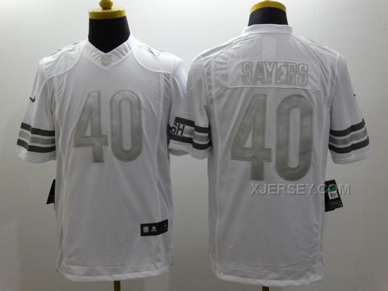 6c5273809 ... Chicago Bears Nike Bears Gale Sayers White Mens Stitched NFL Limited  Platinum Jersey And jersey outlet store ...