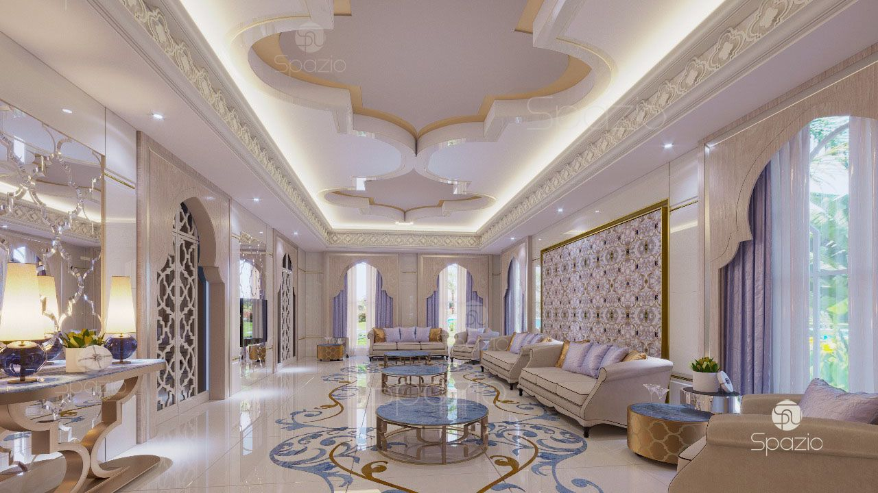 Large Modern Living Room For Meetings For More Than Twenty Five People From Spazio Architecture Luxury House Interior Design Luxury Interior Moroccan Interiors