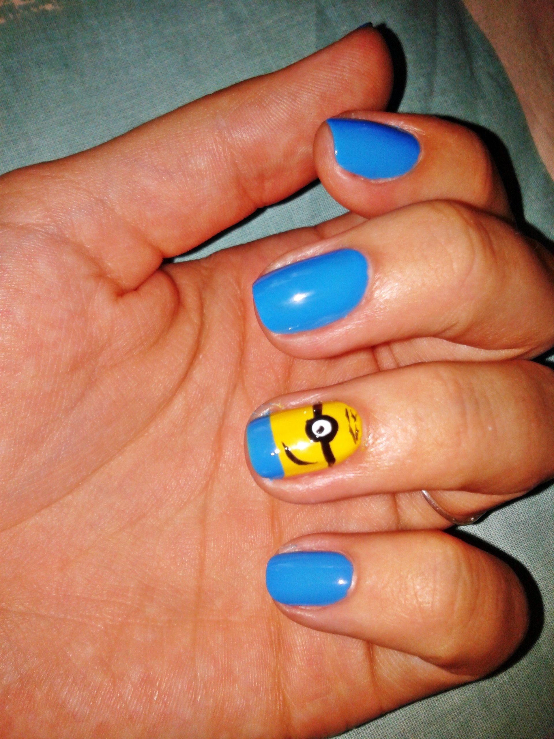 Despicable me,Minions nail :) | My Nails, My Art (: | Pinterest ...