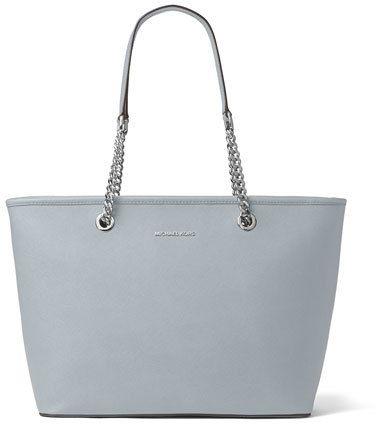 Michael Michael Kors Jet Set Travel Chain Top Zip Multifunction Tote Bag Dusty Blue