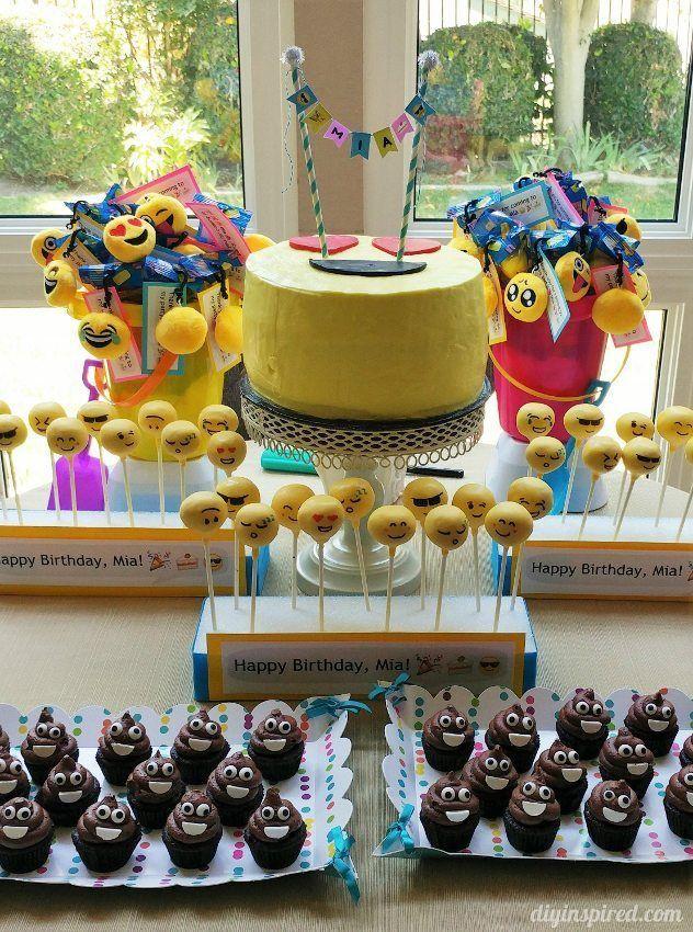 Emoji Birthday Party Dessert Table Emoji Birthday Party Birthday Party Desserts Party Dessert Table