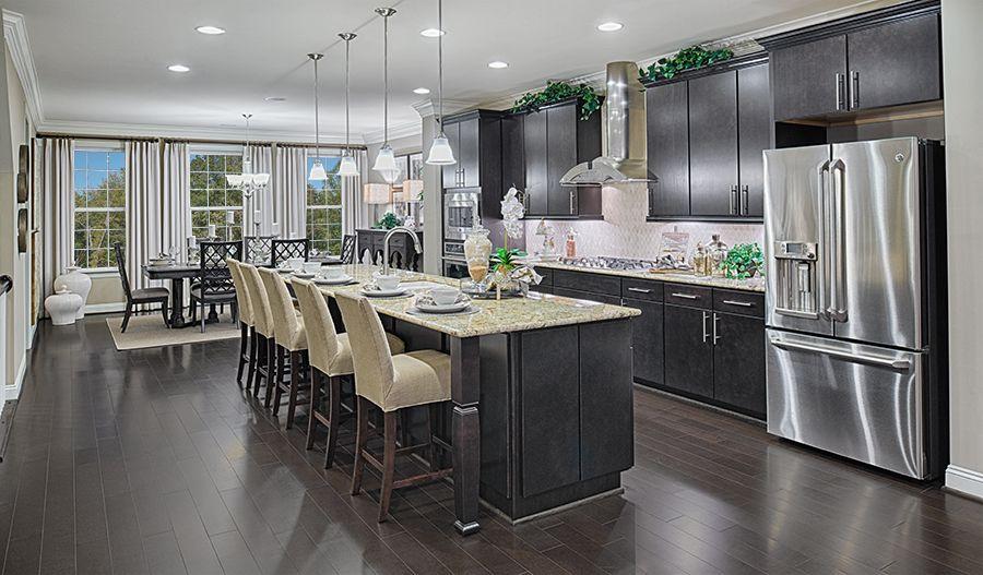 Best This Lavish Haymarket Va Kitchen Offers Rich Hardwood 640 x 480