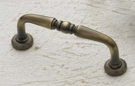 Cliffside Industries Cabinet Hardware Antique Brass Cabinet Handle / Pull 1