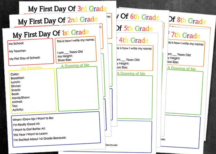 photo about First Day of School Interview Printable called To start with + Past Working day of College Printable Interviews Eagle