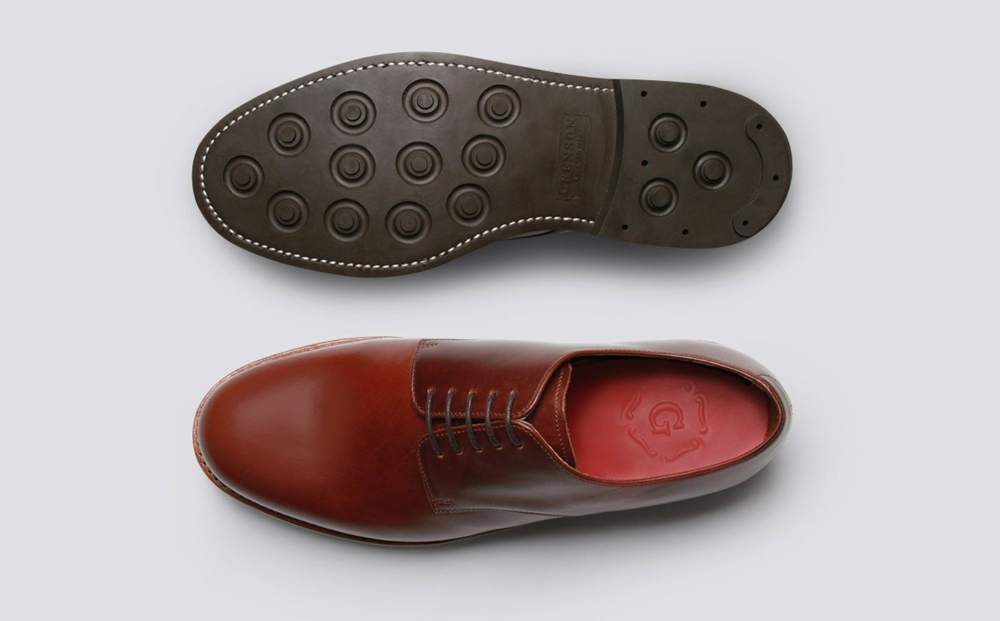 22d0957de6e Mens Derby in Chestnut Pull Up Leather with a Dainite Sole | Curt ...
