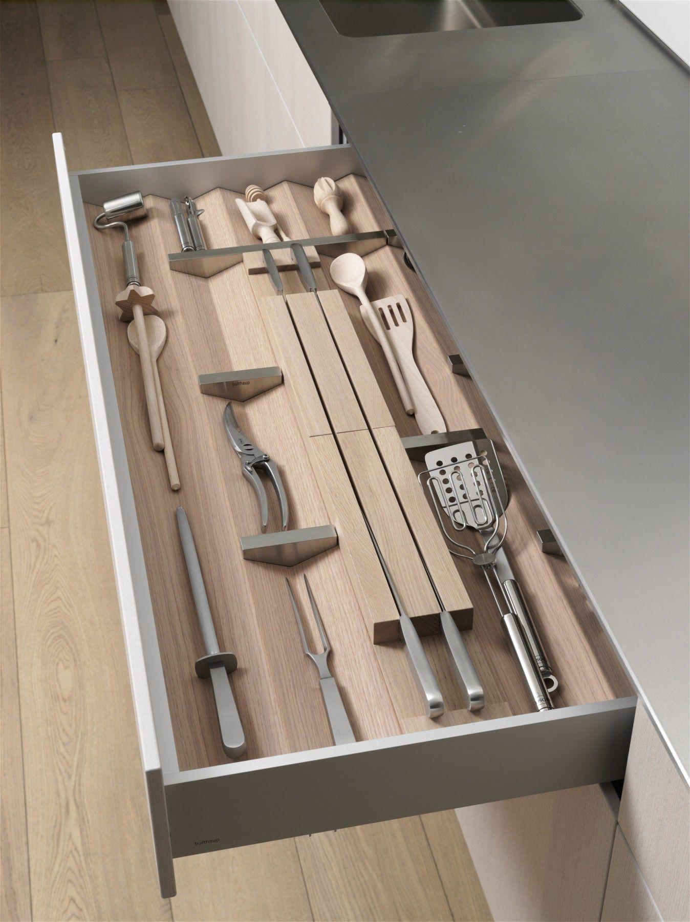 Separador de cajoneras de madera soporte para cuchillos de - Cajoneras de cocina ...