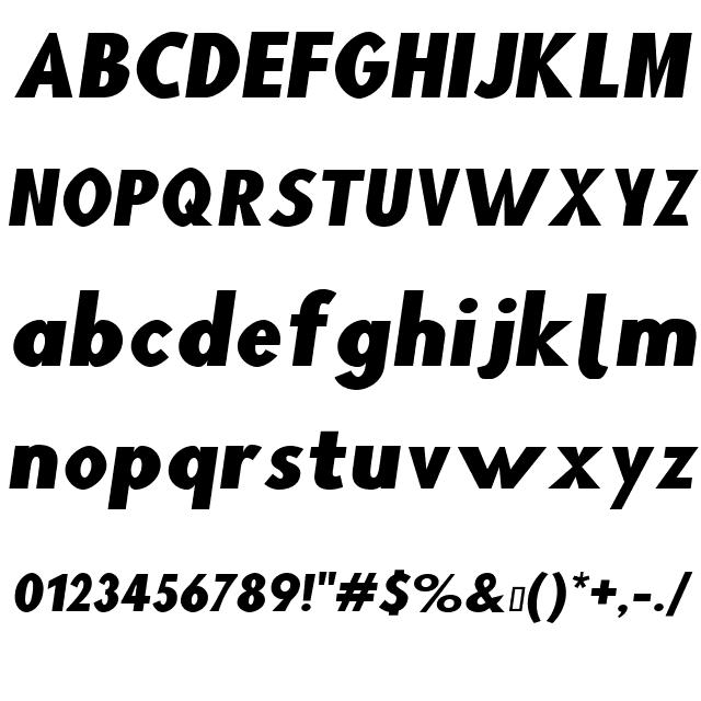 Blink Wide Oblique Font