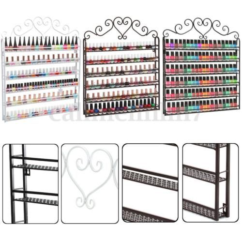 Details about 6 Tier Metal Wall Mounted Nail Polish Rack