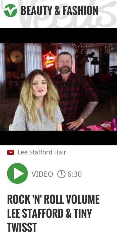 Rock 'n' Roll Volume Lee Stafford & Tiny Twisst | #hairtutorial #leestaffordhair | http://veeds.com/i/5Ku116fcAxC8dB3z/beauty/
