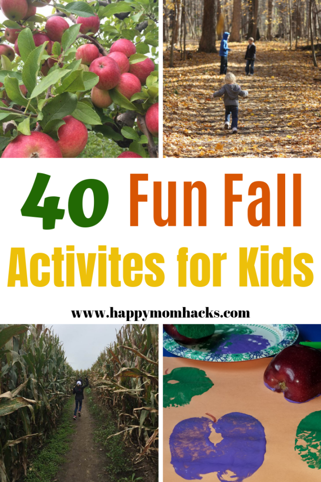 40 Awesome Fall Activities for Kids Fun fall activities