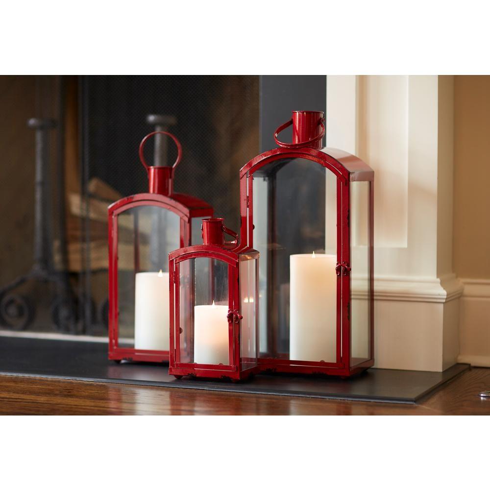 Lantern Set Red Candle