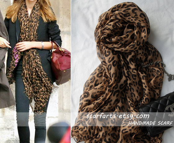 New Fashion Celebrity Long Soft Animal Leopard Print ...
