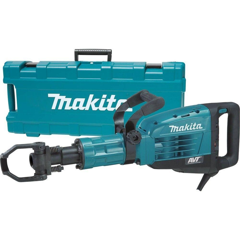 Makita 14 Amp 1 1 8 In Hex 42 Lb Avt Breaker Hammer Hm1317cb Demolition Hammer Makita Home Depot