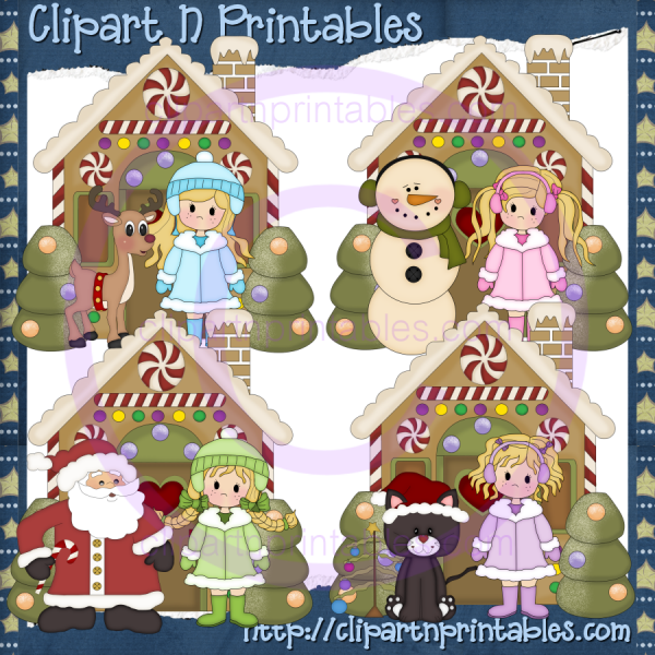 Winter Girls Gingerbread Houses Blonde