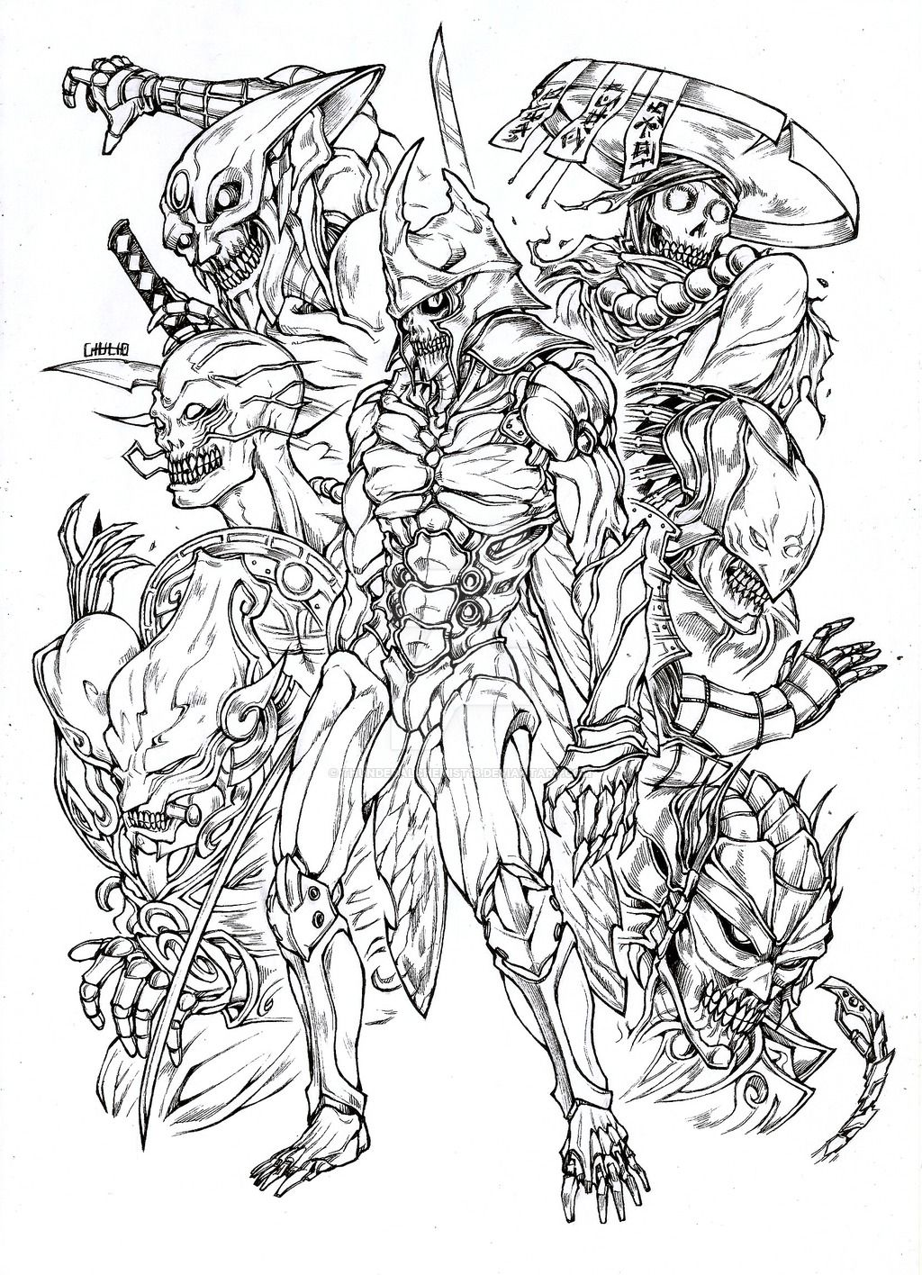 Yoshimitsu Tekken Samurai Art Character Design Inspiration Graphic Illustration