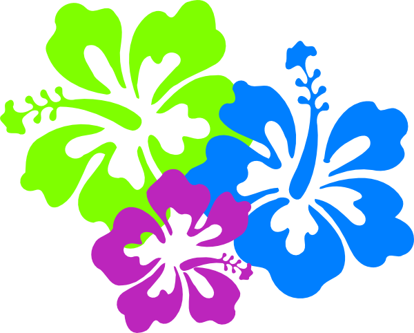 hawaiian flower clip art hibiscus flowers clip art vector clip rh pinterest com blue hibiscus flower clipart red hibiscus flower clipart