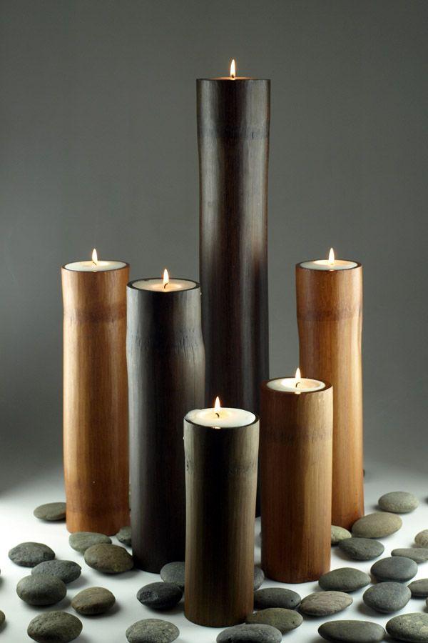 BsaB Bamboo Candle 15 Pinterest Bambú, Velas y Decoracion con - decoracion con bambu