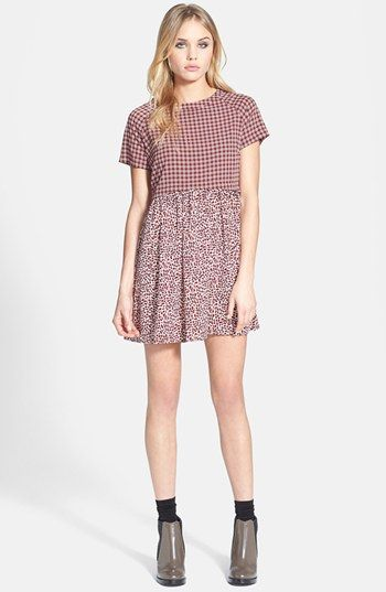 Topshop Mixed Print Tunic Dress available at #Nordstrom