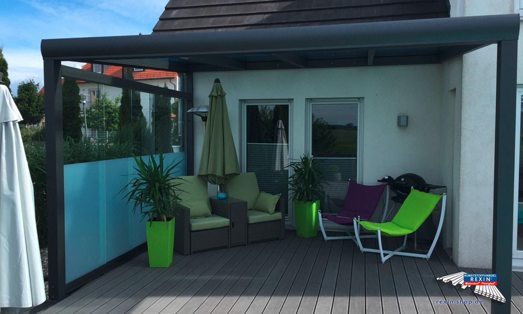 Alu Terrassendach Bausatz ~ Ein alu terrassendach der marke rexopremium 4m x 3 5m anthrazit mit