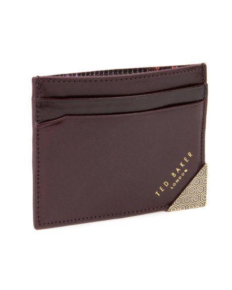 HILLBEN - Metal corner card wallet - Chocolate   Men's   Ted Baker UK