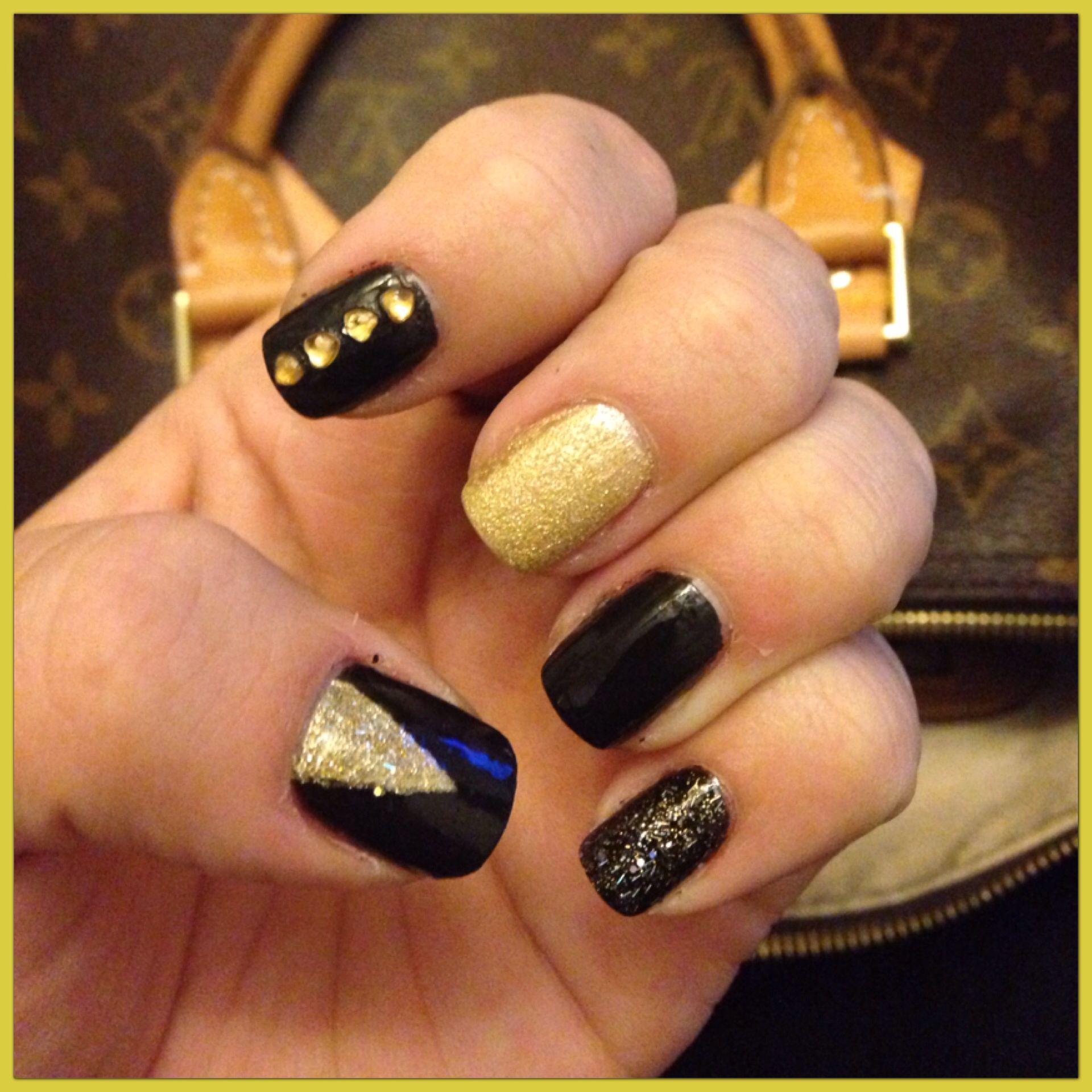 New Orleans Saints Nails | Random | Pinterest | Saints nails