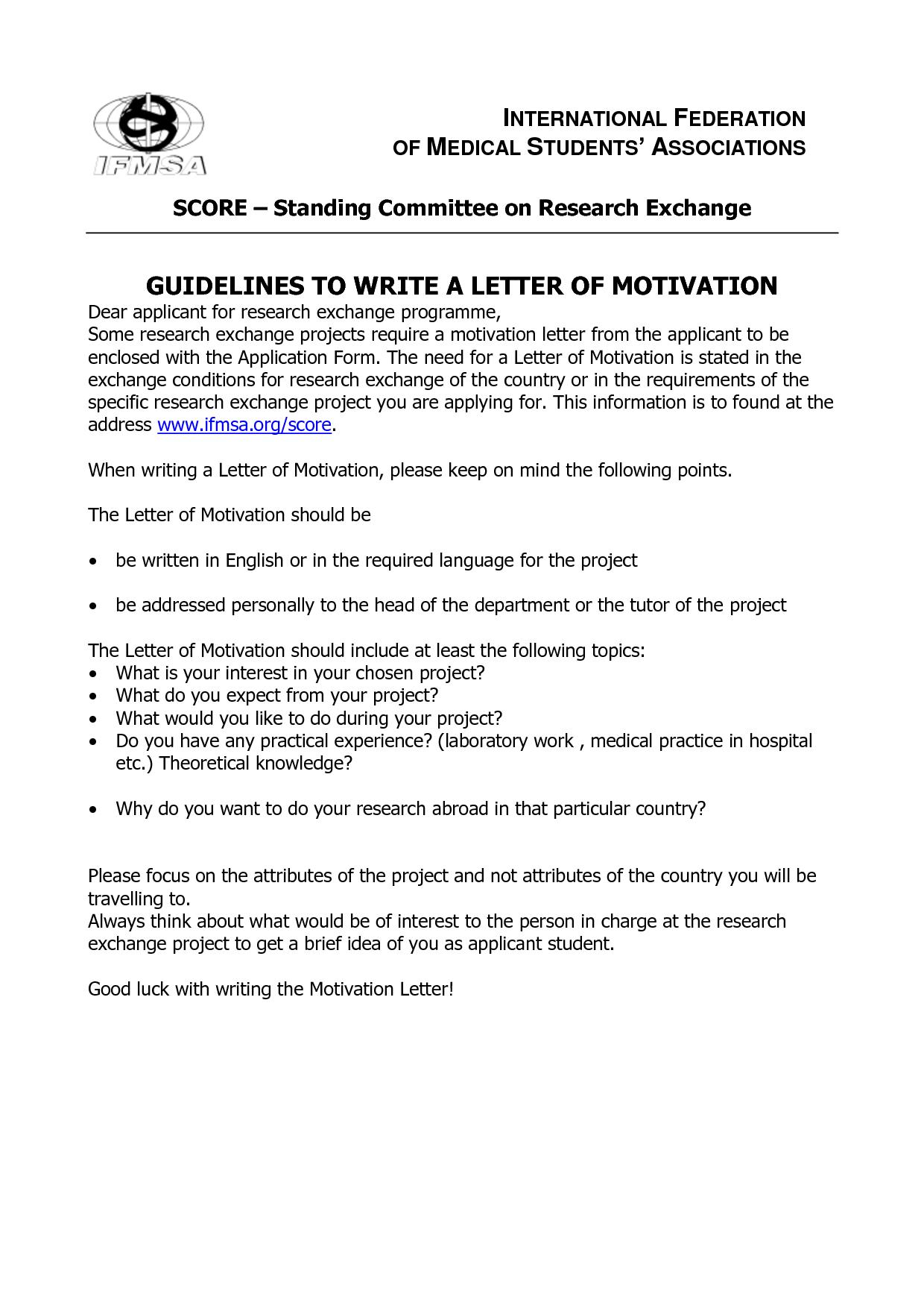 Student Motivation Letter Bond Cleaning Melbourne