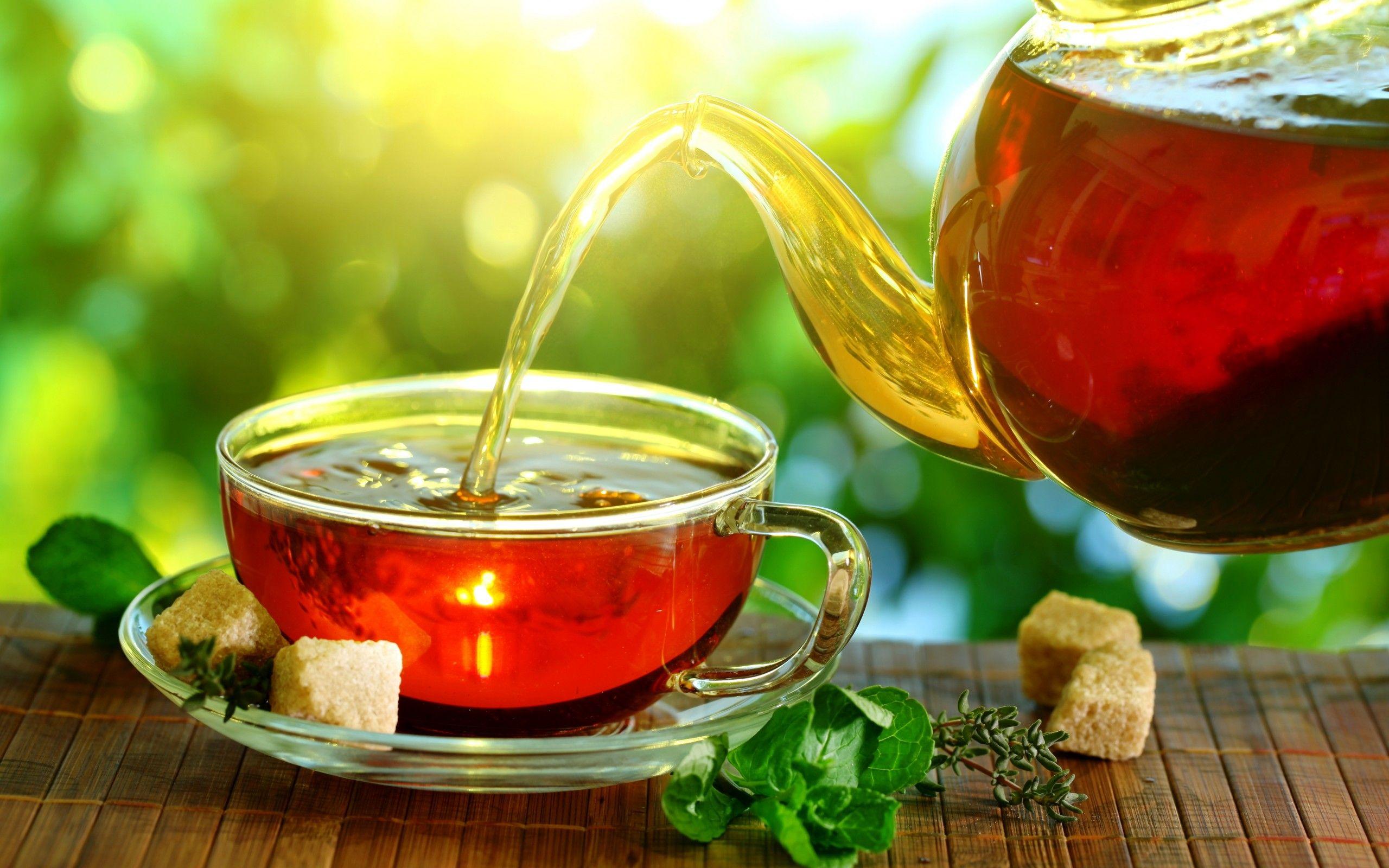 Обои мята, чай, чайник, доски. Еда foto 10