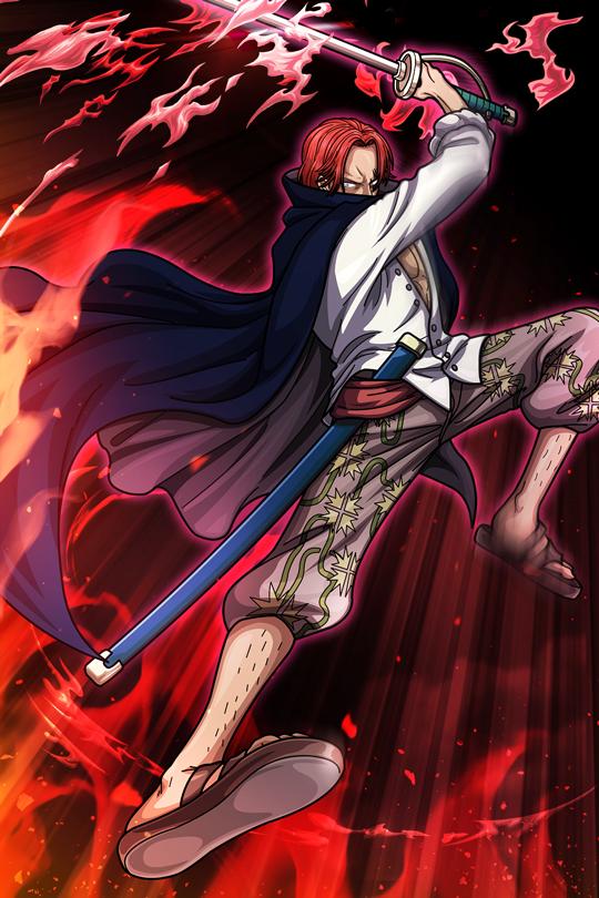シーンカード_レア度(★4)_赤髪の剣技(シャンクス)