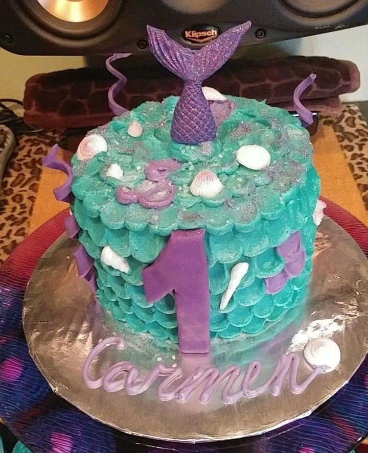 Carmens 1st birthday cake my mermaid birthday cake kids