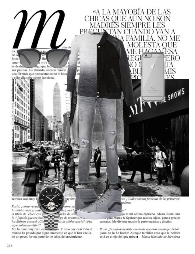 """Men,s style"" by blackgentleman ❤ liked on Polyvore featuring Whiteley, Dolce&Gabbana, MANGO MAN, Vans, Raymond Weil, OtterBox, men's fashion and menswear"