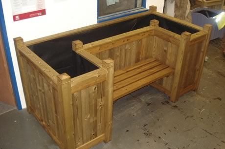 Garden Benches Made From Fence Material | ... Example Of How We Can  Customise Any Of Our Wooden Garden Planters This