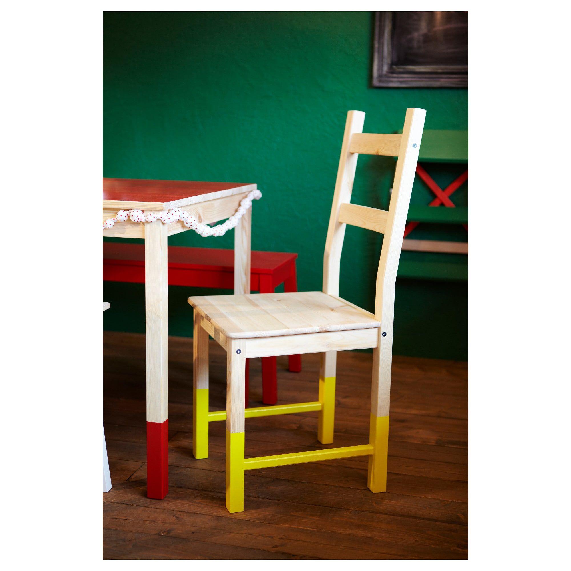 IVAR Chair Pine IKEA Ikea chair, Pine chairs, Leather