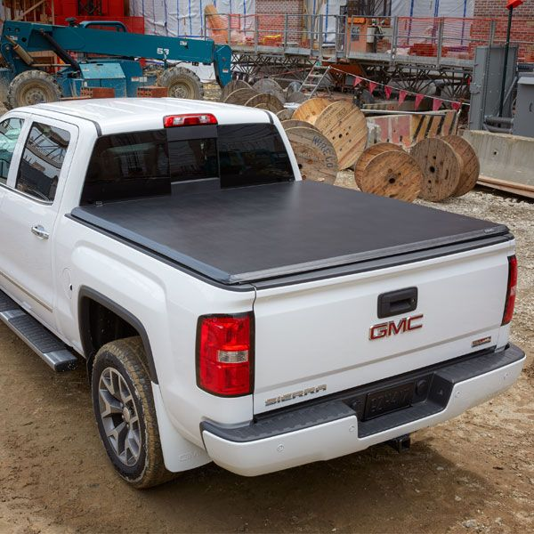 2015 Sierra 3500 Tonneau Cover Soft Roll Up Vinyl Black 8