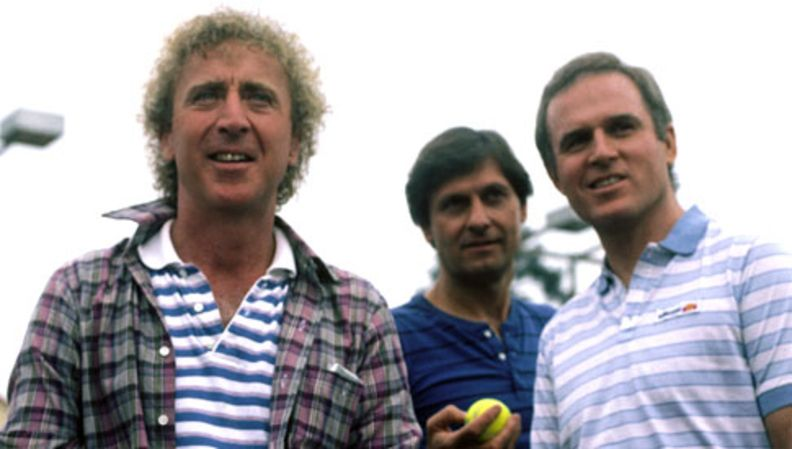 Gene Wilder On Set At Woman In Red