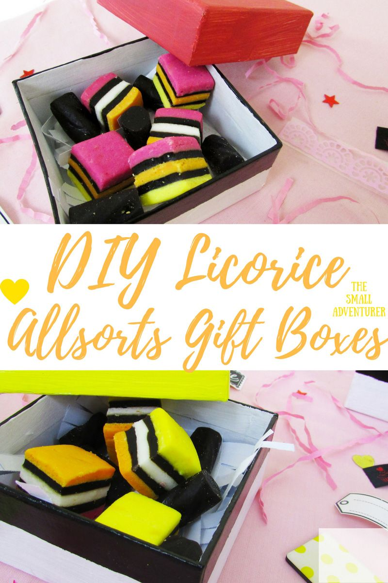 DIY Licorice Allsorts Gift Boxes for National Licorice Day || The Small Adventurer