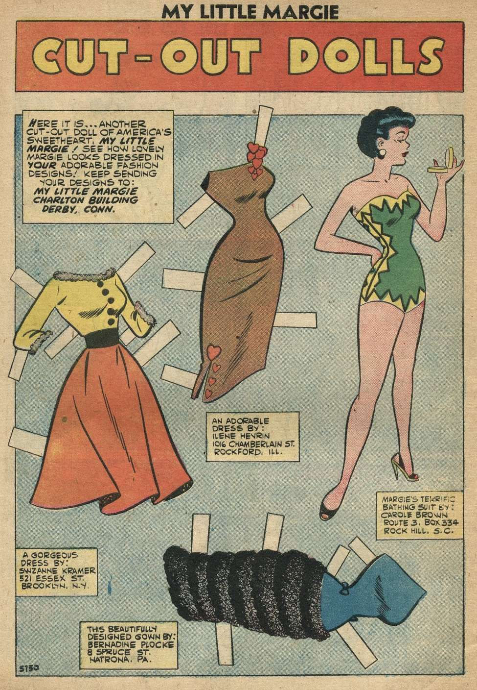 Comic Book Cover For My Little Margie 27 Vintage Paper Dolls Doll Toys