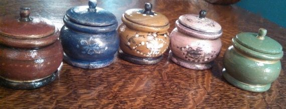 Small Wooden Rouge Pots by LitttleBits on Etsy