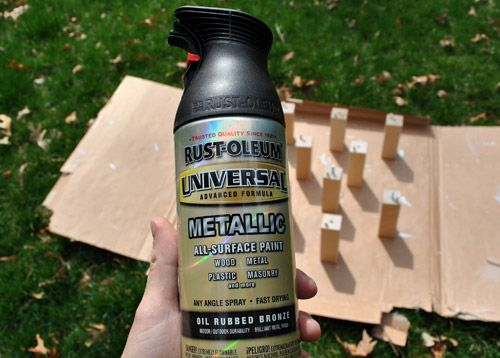 Using Oil-Rubbed Bronze Spray Paint To Update Chair Legs - Meubels