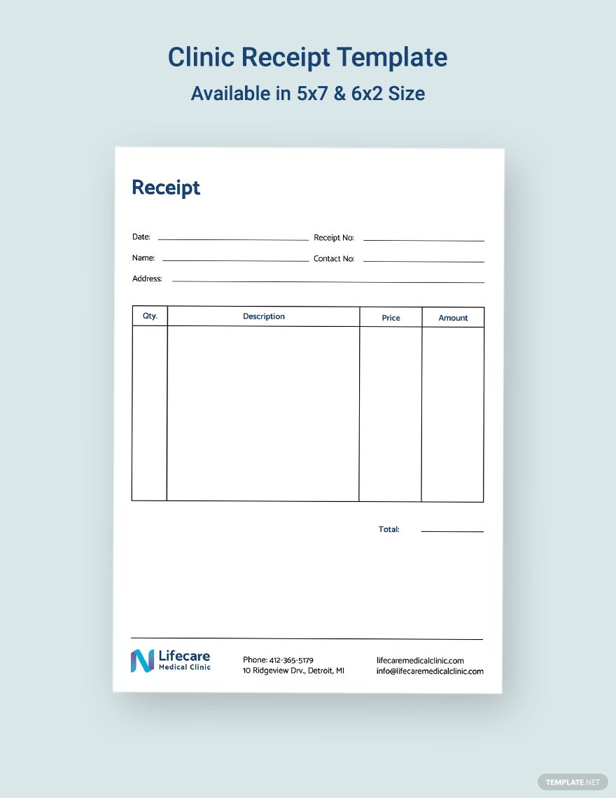 Clinic Receipt Template Word Doc Psd Indesign Apple Mac Pages Illustrator Publisher Receipt Template Microsoft Publisher Word Doc