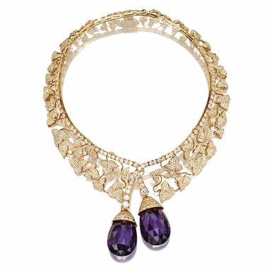 18 karat gold, diamond and amethyst 'Botticelli' necklace, Van Cleef & Arpels